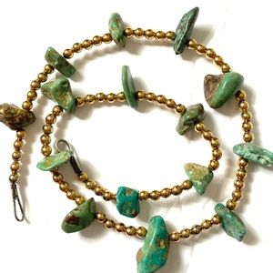 Native American Turquoise Necklace GF beads
